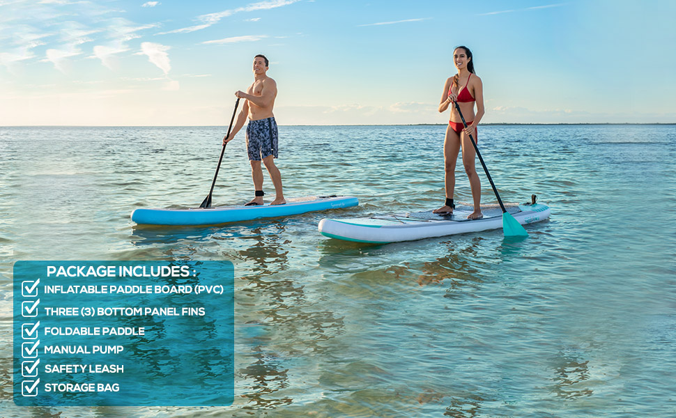 Free-Flow Inflatable SUP - Stand Up Water Paddle-Board
