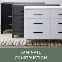 durable laminate construction wooden 6 drawer dresser easy yo follow assembly instructions dreser