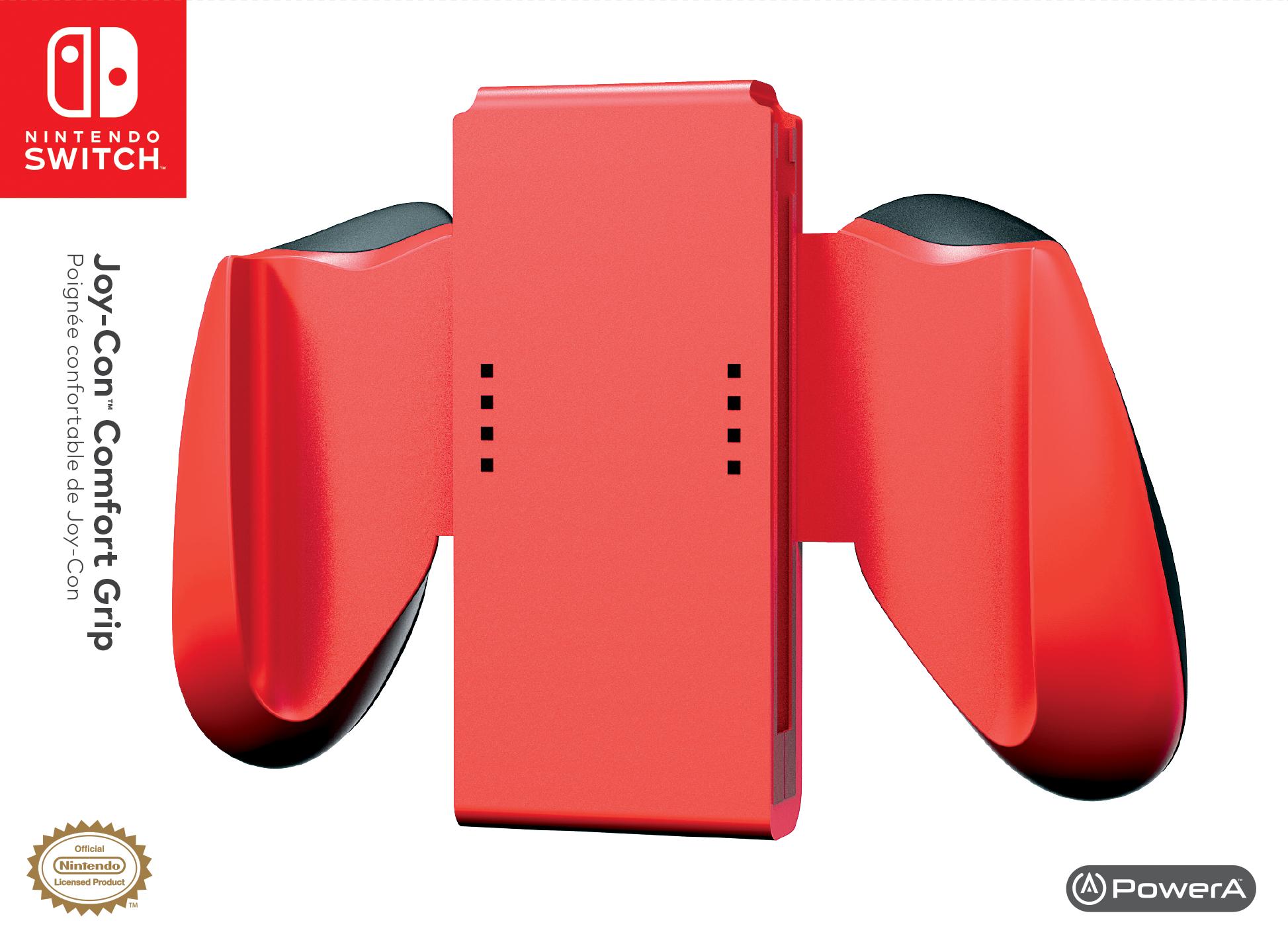 cf963211bd43 Amazon.com  PowerA Joy-Con Comfort Grips for Nintendo Switch – Red ...