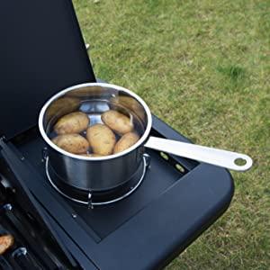 Ultranatura gaz barbecue chariot, 3 brûleurs principaux et 1