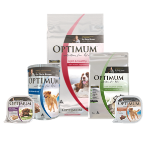 Dry dog food, optimum, wet dog food