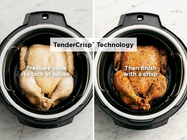 pressure cooker chicken, air fried chicken, air fryer chicken, juicy chicken recipe, crispy chicken