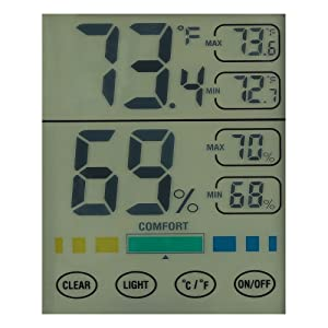 Digital LCD Indoor Hygrometer Humidity Monitor Touch Screen