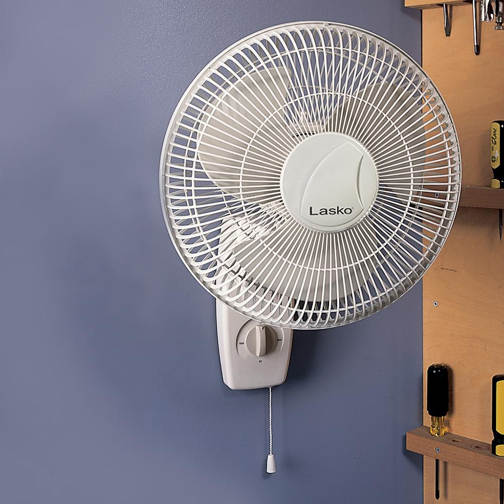 Wall Mounted Fans For Homes : Amazon lasko inch wall fan home kitchen