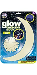 GLOW Crescent Moon and Stars