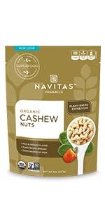 raw cashews, organic cashews, cashews, whole cashews