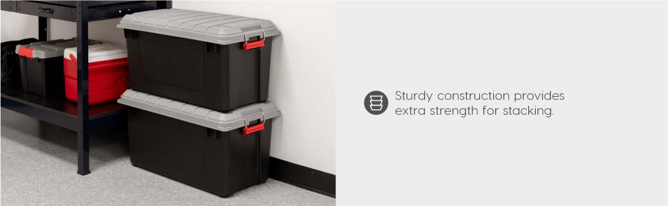 utility storage, heavy duty, heavy duty storage box, garage organization, storage box for garage