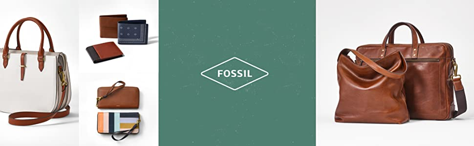 Fossil leather bag, fossil hand bag, handbag, leather bag, purse, leather