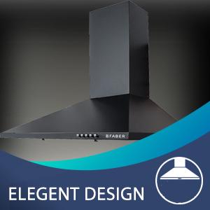 Elegent Design Conico black chimney;best chimney;chimney under 10000;Faber Chimney