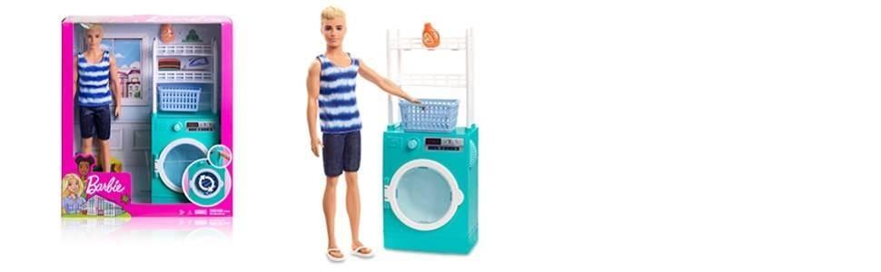 Amazon.es: Barbie Ken Muñeco con lavadora Giratoria y Accesorios ...