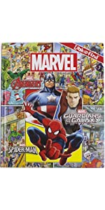 Marvel - Avengers, Spider-man, and More! Look and Find Activity Book