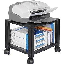 Kantek Ps510 2 Shelf Mobile Printer Stand Holds Up To 75