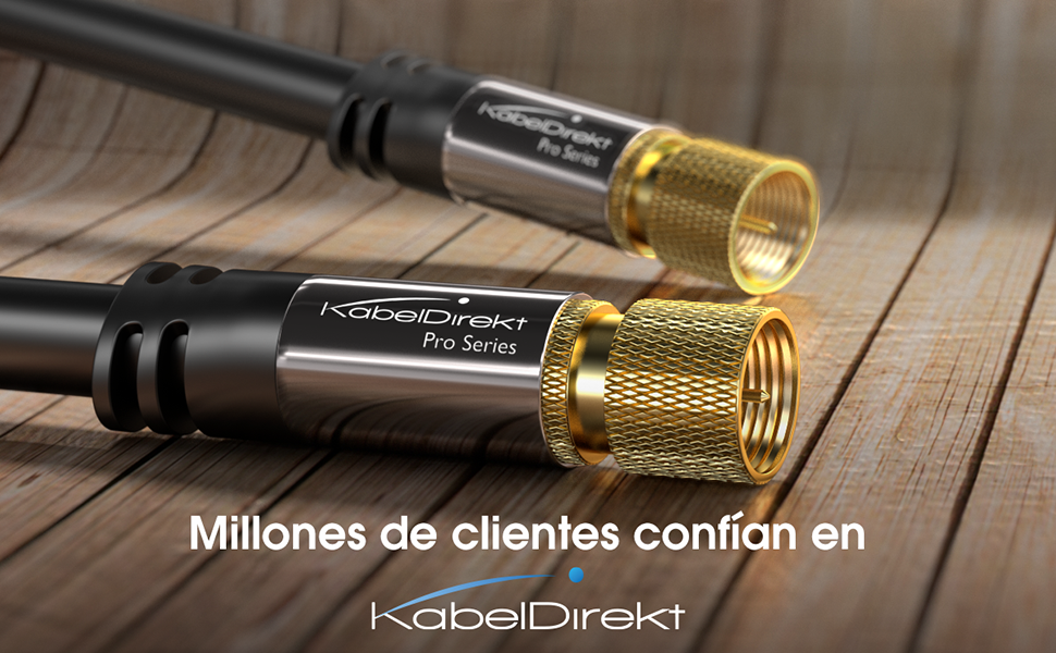 KabelDirekt 0,5m Cable de Satélite Coaxial, (Conector F a Conector ...