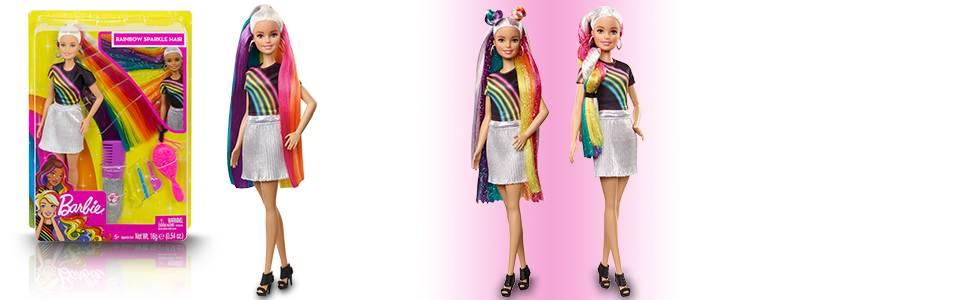 ¡Crea peinados de colores vivos para Barbie!