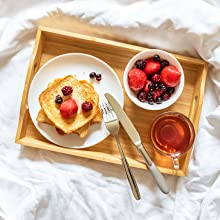 bed lap top breakfast serving laptop folding bamboo tray natural