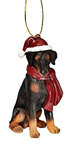 Christmas Ornaments - Xmas Doberman Pinscher Holiday Dog Ornaments