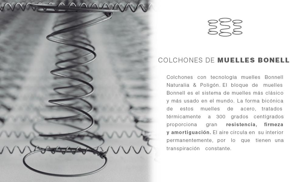 Naturalia Colchón Cometa de Muelles Bonnell, 80 X 180 cm