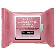Oil-Free Cleansing Wipes, pink grapefruit