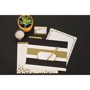 gold file folder, fashion file folder, Kate Spade, office supplies