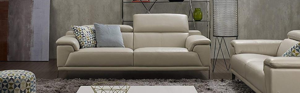 Amazon.com: Jamie Living gl-10870 mercado sofá de piel ...