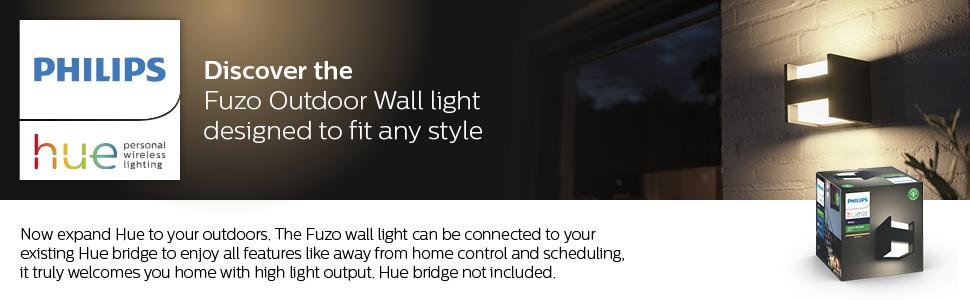 Fuzo Wall Lantern, Edge Black