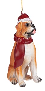 Christmas Ornaments - Xmas Boxer Holiday Dog Ornaments