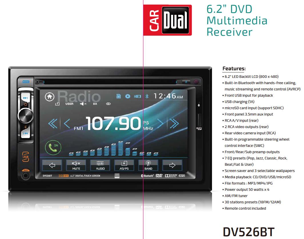 Amazon.com: Dual Electronics DV526BT Multimedia Detachable