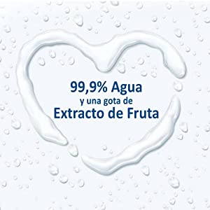 Fabricadas con 99.9% de agua purificada y una gota de extracto de fruta