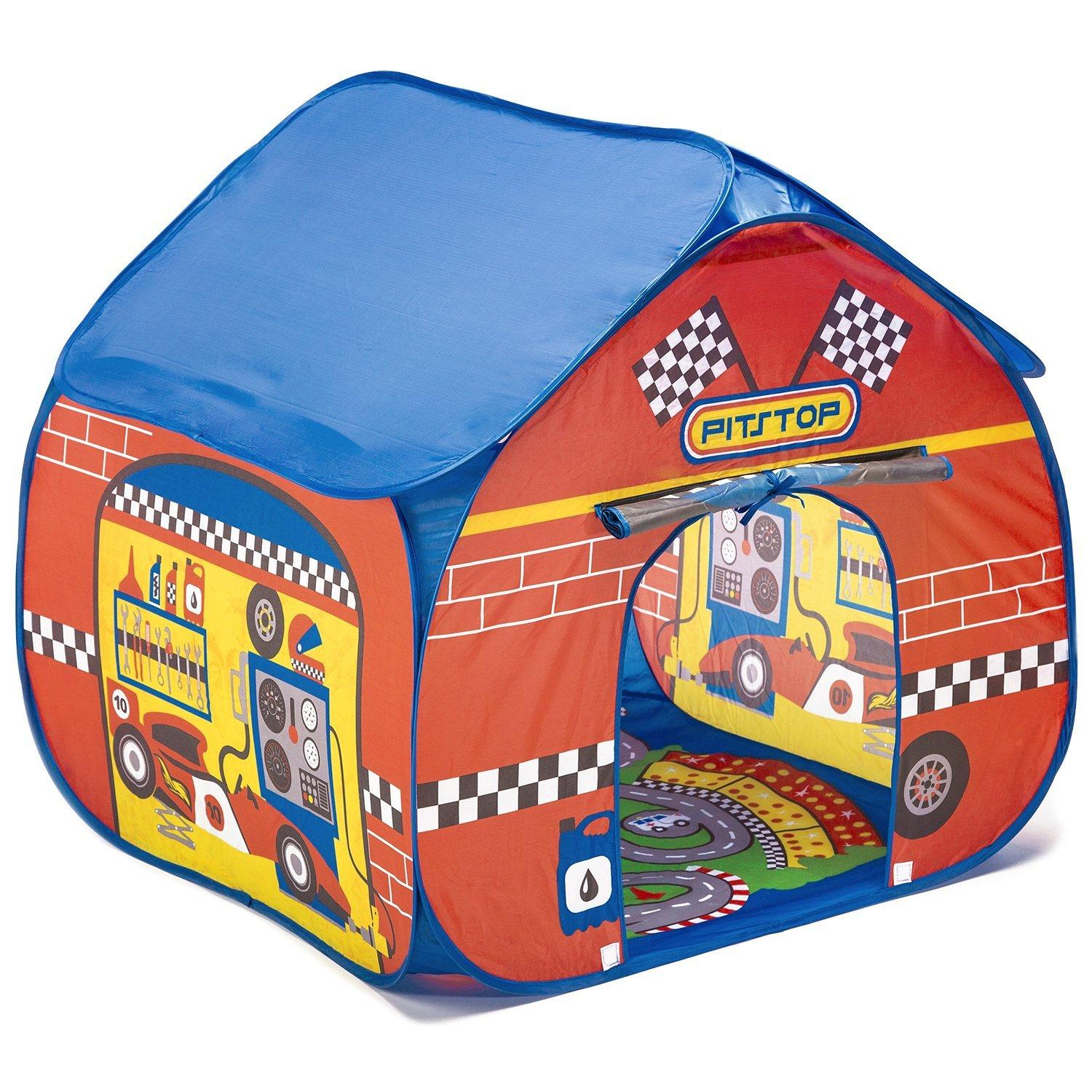 Amazon.com: Fun2Give Pop-It-Up Pit Stop Tent With Race Mat