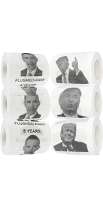 Fairly Odd Novelties Donald Trump & Barack Obama Toilet Paper