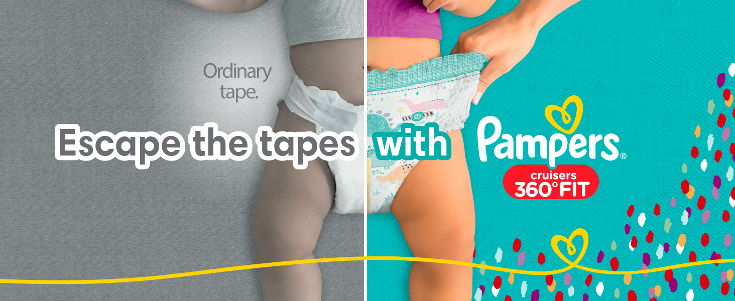 Escape the tapes with Pampers Cruisers 360