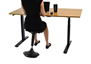 Active Chair Balance Wobble Perch Leaning Standing Desk Office Stool