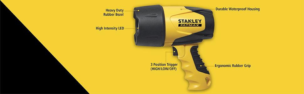 STANLEY FATMAX FL5W10 Waterproof Floating LED Rechargeable Spotlight