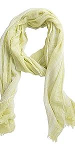 Tickled Pink Lime Stripe summer scarf
