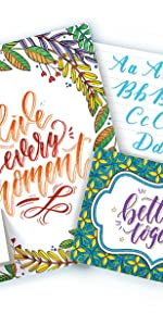 calligraphy, activity set, lettering, crayola, brush markers