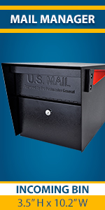Mail Manager Locking Security USPS approved Residential Mailbox for Outside with Lock and Key