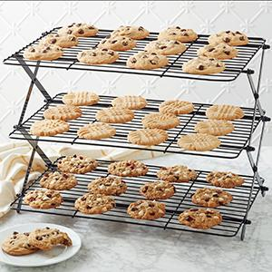 adjustable cooling rack, collapsible cooling rack, cooling grid