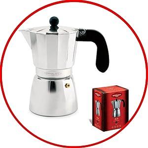 Oroley Alu1 Cafetera para 1 taza, Aluminio, Gris