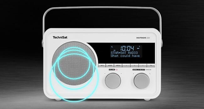Technisat Digitradio 220 Portables Empfangsstarkes Digitalradio Dab Ukw Radio Wecker Sleeptimer Und Aux Anschluss Für Kopfhörer Akku Indoor Outdoor Zu Nutzen 5 Watt Weiß Heimkino Tv Video