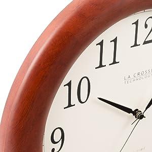 12.5... La Crosse Technology WT-3122A 12.5 Inch Cherry Wood Atomic Analog Clock