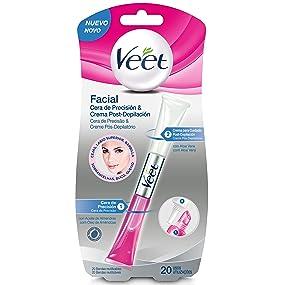 Veet Lapiz Facial Cera de Precision & Crema Post-depilación - 20 ...