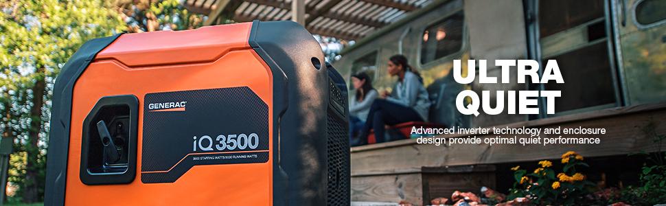 ultra quiet, quiet, inverter, inverter generator, portable generator, iQ, iQ3500, iq, 3500