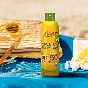 hawaiian;clear;spray;sunscreen