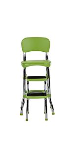 Amazon Com Cosco Retro Counter Chair Step Stool Red