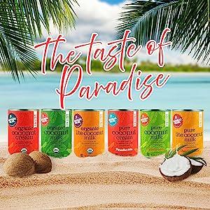 organic pure non-gmo coconut natural value taste paradise