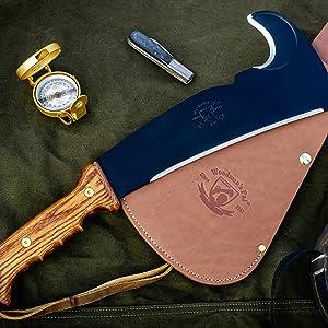Woodman's Pal knife blade machete axe usa chop split