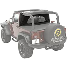 with Factory Soft top Hardware Removed Bestop 90033-35 Black Diamond Duster Deck Cover for 07-12 Wrangler2-door