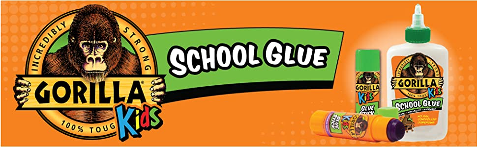 Gorilla kids disappearing school glue sticks elmer's craft teacher supplies dollar tree