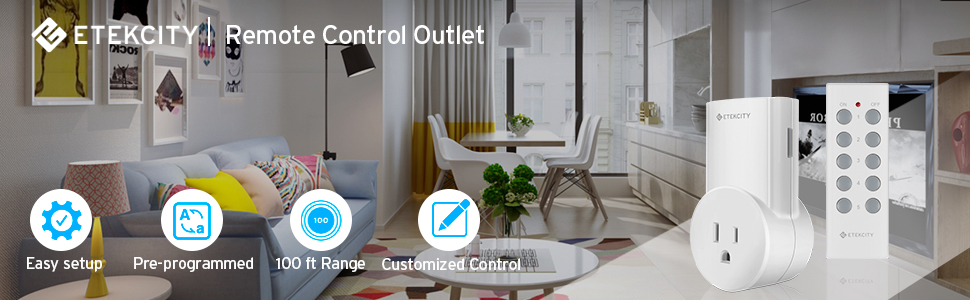The Etekcity Remote Control Outlets can control your homes with a simple press of a button