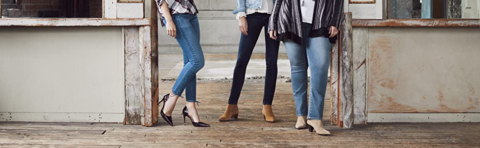 vintage america blues jeans for women; women's stretch denim jeans